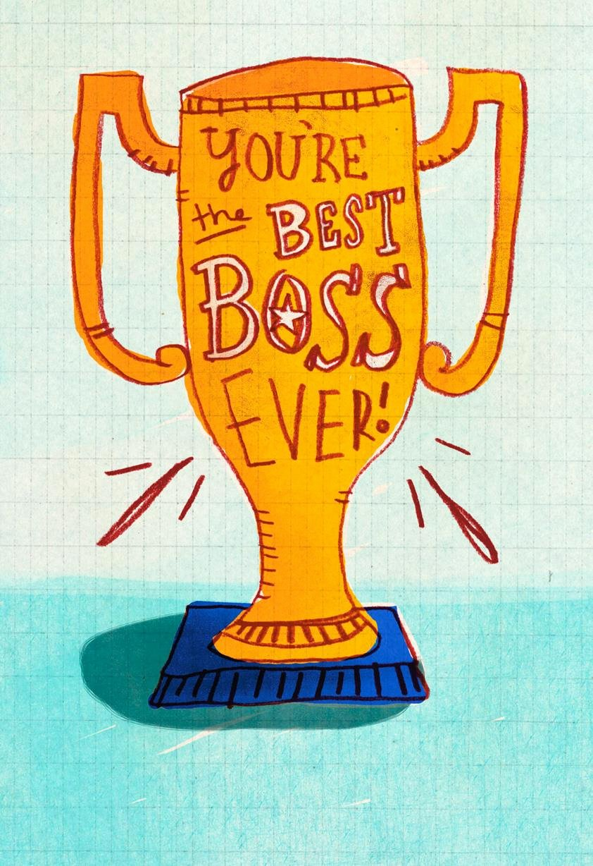 best boss award funny bosss day card 349ZBD4011