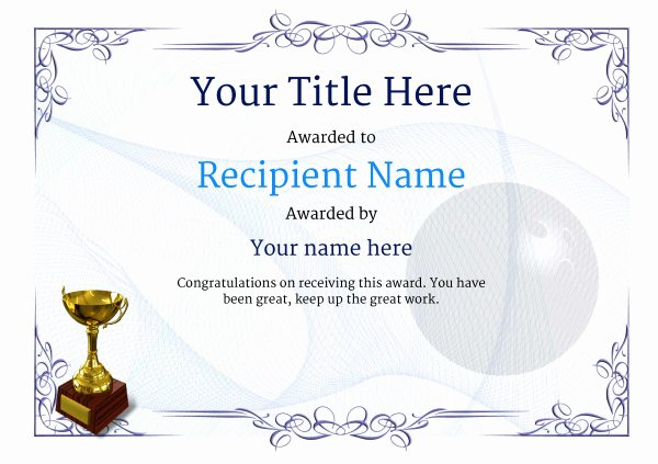 Funny Bowling Award Categories Elegant Free Ten Pin Bowling Certificate Templates Inc Printable