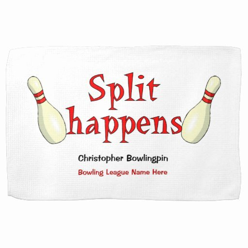 Funny Bowling Award Categories Luxury Personalized Funny Split Happens Bowling towel