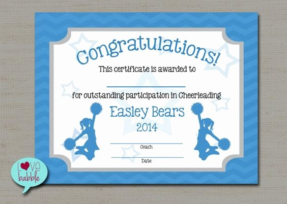 Funny Cheer Awards Ideas Elegant Cheerleading Cheer Award Certificate Dance Gymnastics