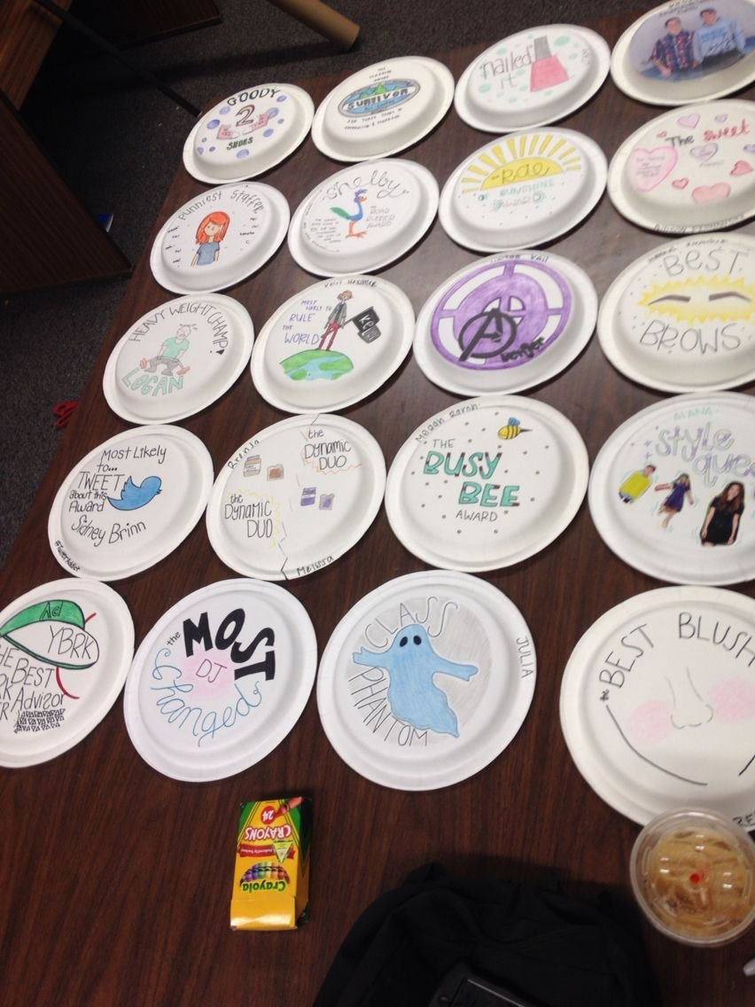 Funny Cheer Awards Ideas Fresh Paper Plate Awards for the End Of Year Yearbook Banquet