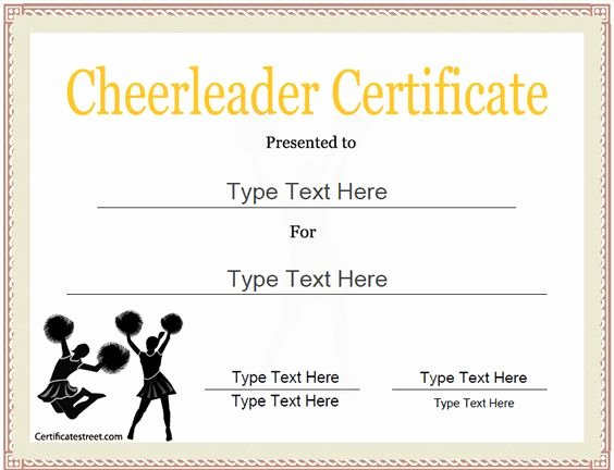 Funny Cheer Awards Ideas Lovely Sports Certificate Cheerleader Certificate