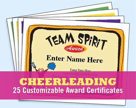Funny Cheer Awards Ideas Unique Cheerleading Certificate Cheerleader Awards by
