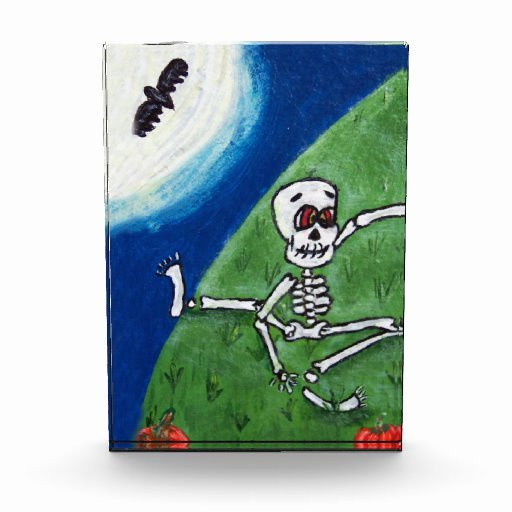 Funny Dance Team Awards Awesome Dancing Funny Skeleton Bat Moon Halloween Award