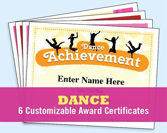 Funny Dance Team Awards Beautiful Dance Certificate Pack Dancing Awards Dance Team Printables