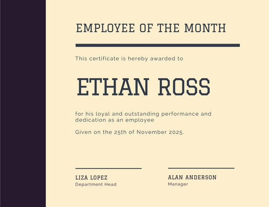 Funny Employee Of the Month Certificate Beautiful Customize 1 508 Employee the Month Certificate