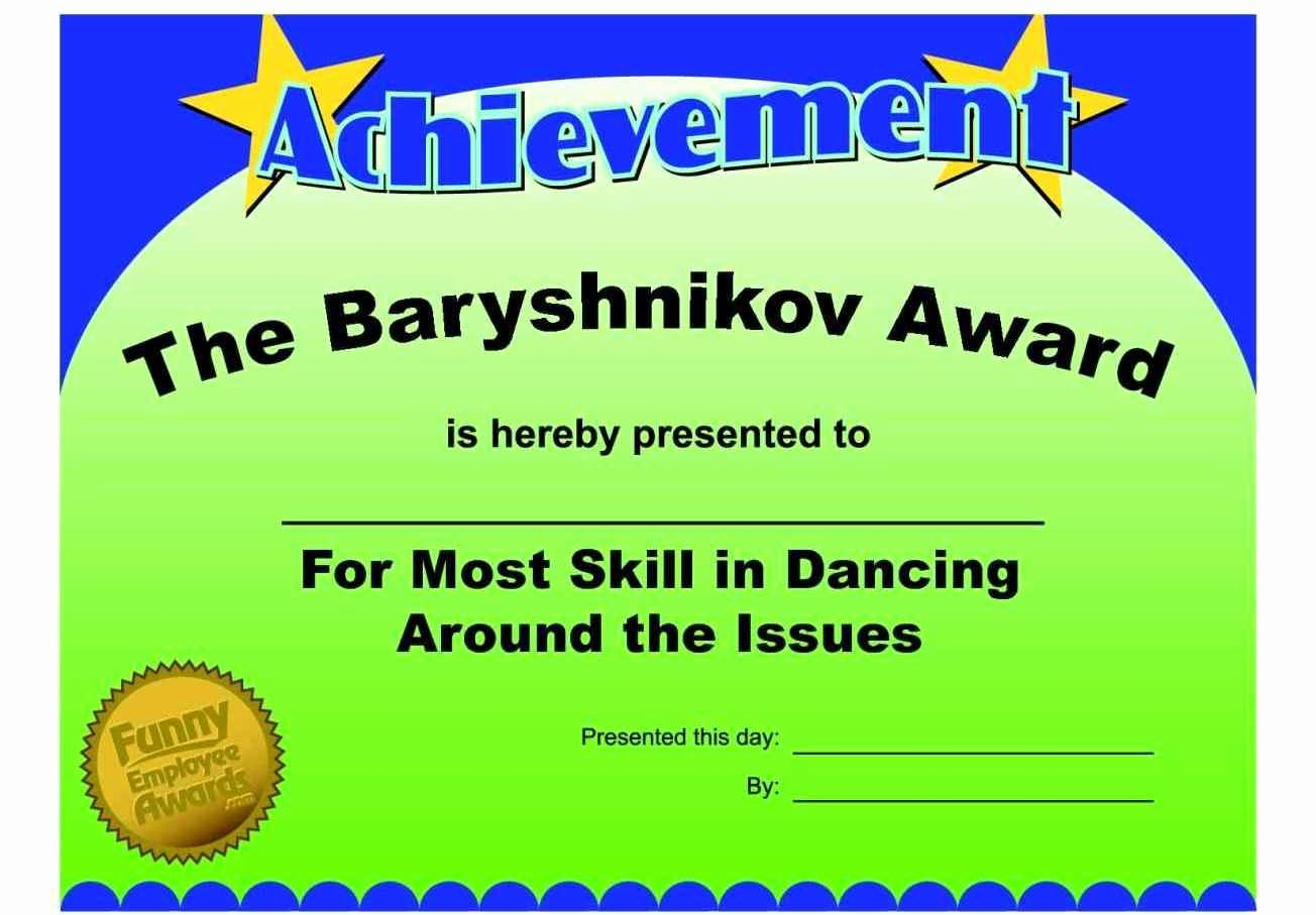 Funny Employee Of the Month Certificate New Funny Employee the Month Certificate Template