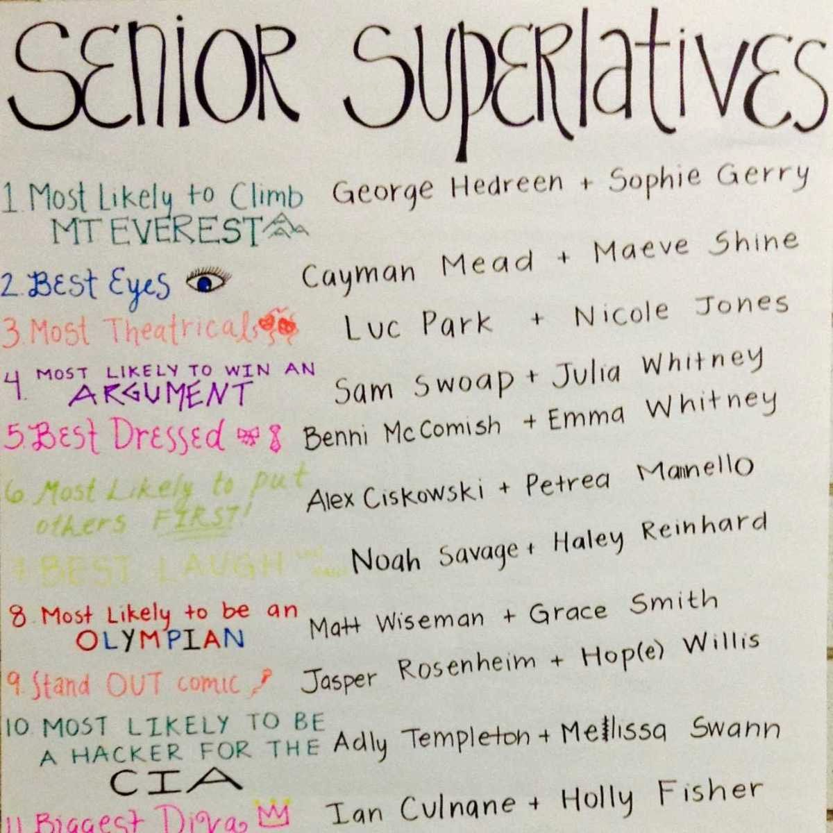 Funny Most Likely to Awards School Fresh Yearbook Staff Publishes Senior Superlatives – the