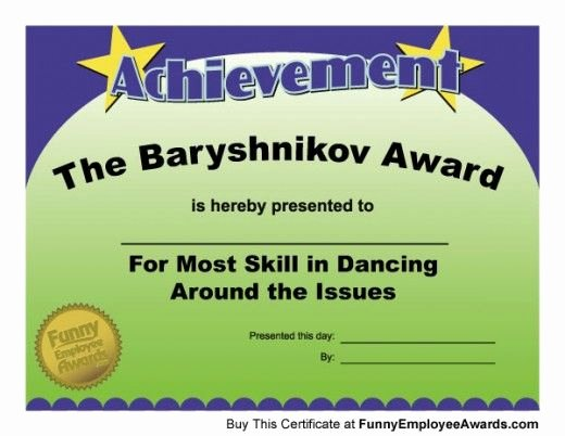 Funny Most Likely to Awards School New Fun Award Certificates Team Building