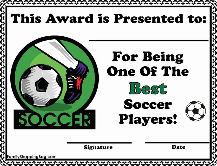 Funny soccer Award Certificates Beautiful soccer Certificate Awards Awards Free Printable Ideas