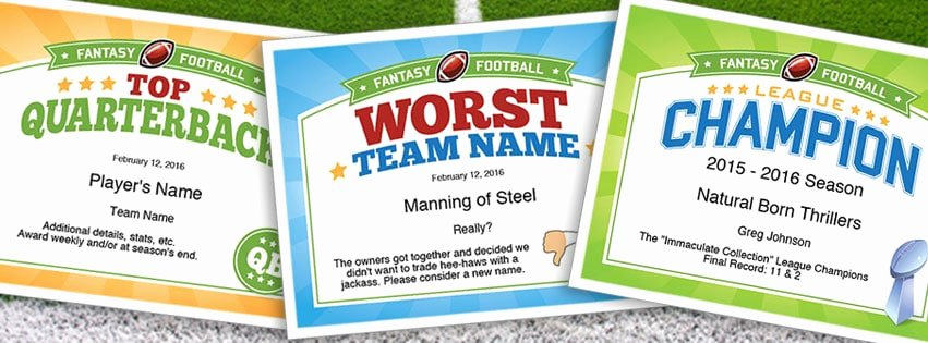 Funny soccer Award Certificates Lovely 227 Funny Fantasy Football Team Names 2015 Aaron Rodgers