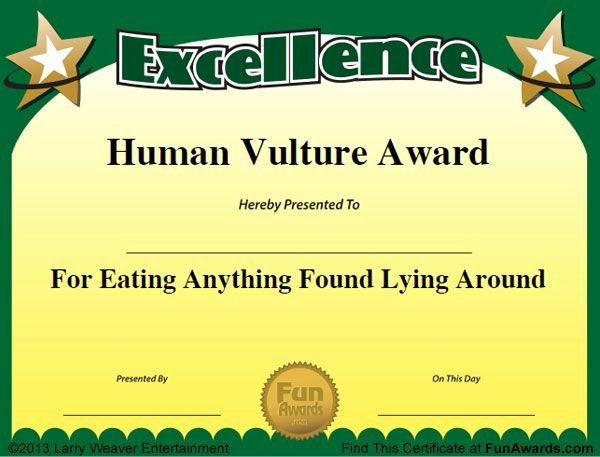 Funny soccer Award Certificates Unique Humorous Awards