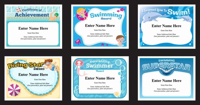 Funny soccer Award Ideas Inspirational Swimming Certificates Templates Swim Awards