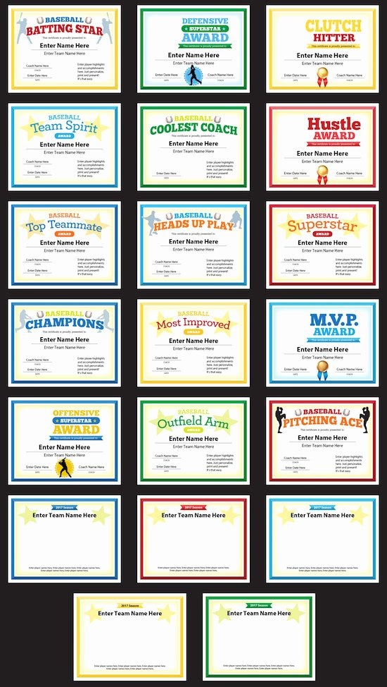 Funny soccer Awards for Kids Inspirational Baseball Award Certificates Templates