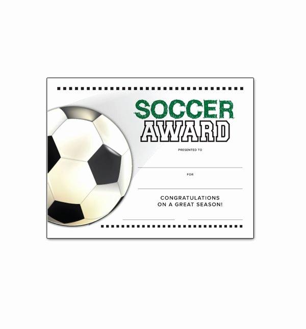 Funny soccer Awards for Kids Luxury soccer End Of Season Award Certificate Free