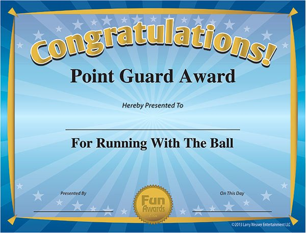 Funny soccer Awards for Kids New Funny Sports Awards Free Printable Sports Award