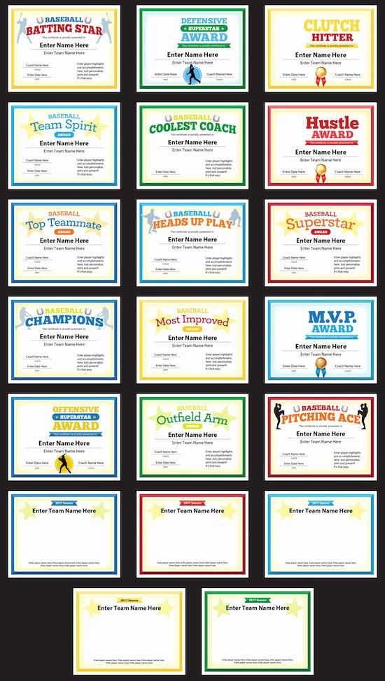 Funny softball Awards Certificates Best Of Baseball Award Certificates Templates