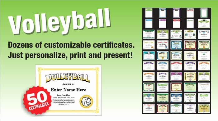 Funny softball Awards Certificates Luxury Volleyball Slogans and Phrases for Team Spirit and Fans