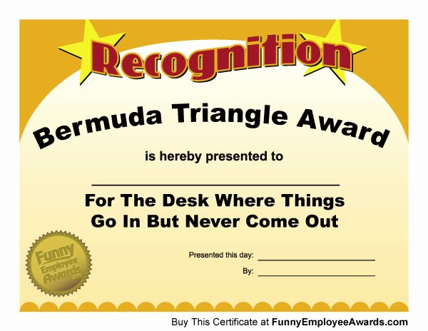 Funny softball Awards Certificates Unique Funny Awards – Ideas for A New Twist On Classic Fice