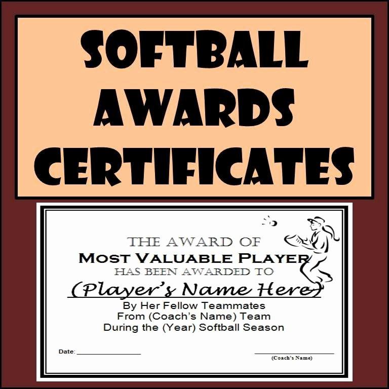 Funny softball Awards Certificates Unique softball Awards Certificates & Nomination Ballots 9