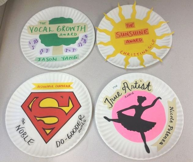 Funny sorority formal Awards Lovely Paper Plate Awards Superlatives