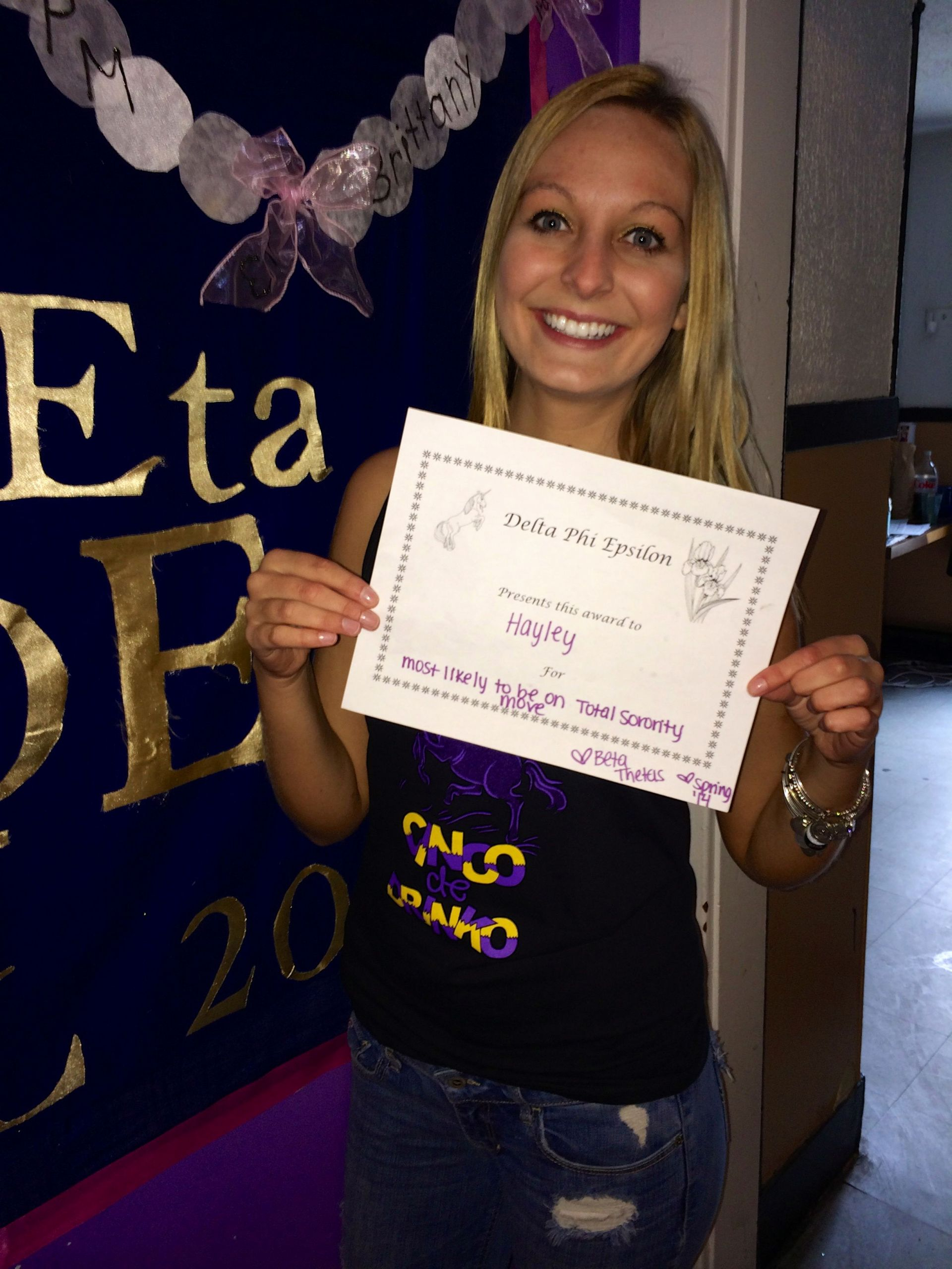 "Funny sorority formal Awards Lovely Winning the ""most Likely to Be On total sorority Move"