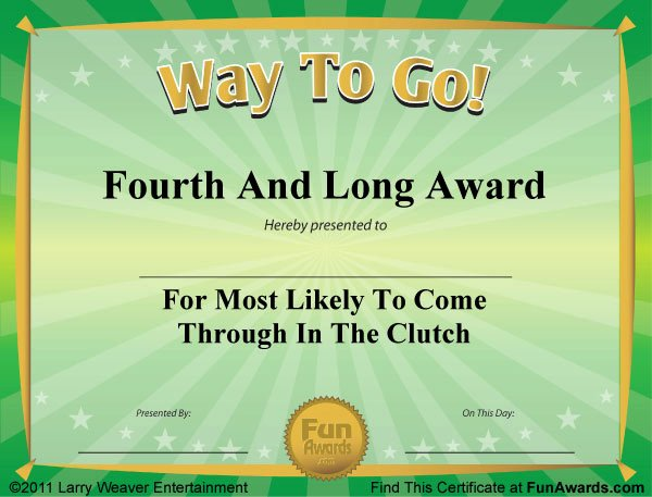 Funny Sports Awards Certificates Beautiful Funny Award Certificates On Pinterest