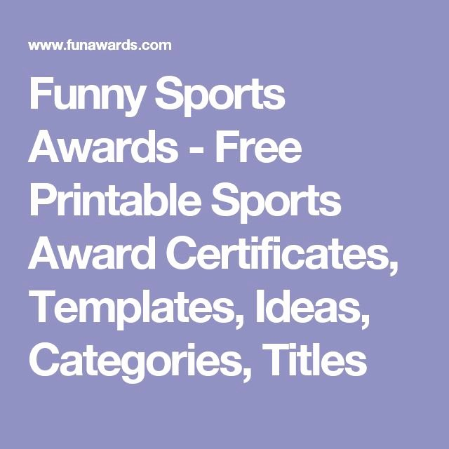 Funny Sports Awards Certificates Beautiful Funny Sports Awards Free Printable Sports Award