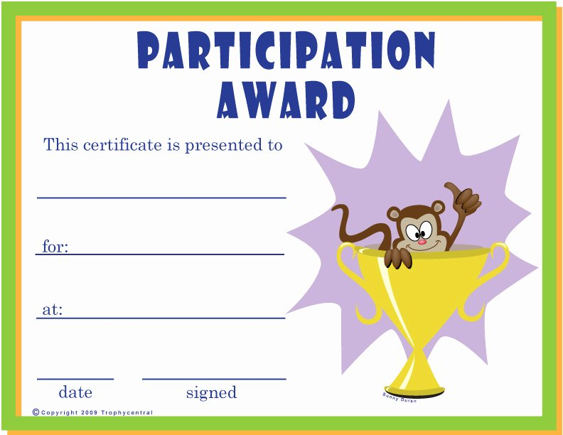 Funny Sports Awards Certificates Inspirational Downloadable Certificates