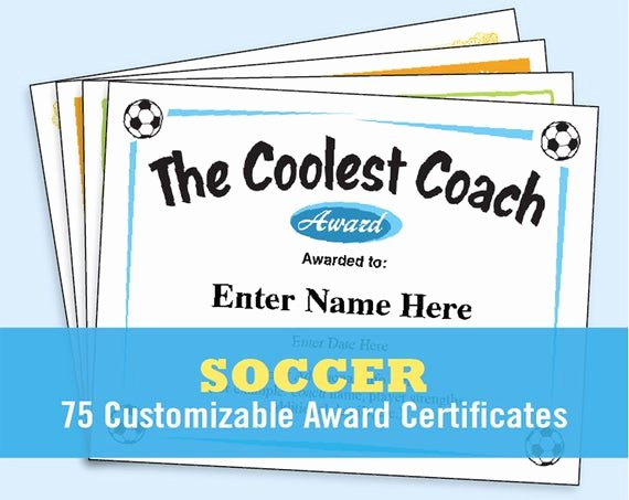 Funny Sports Awards Certificates New soccer Certificates soccer Awards Templates Child