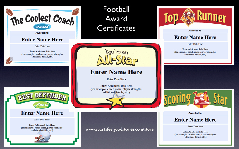 Funny Sports Awards for Kids Inspirational Football Teams Nicknames Ideas