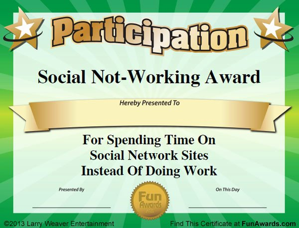 Funny Trophy Ideas for Work Awesome Funny Fice Awards™ 101 Printable Award Certificates