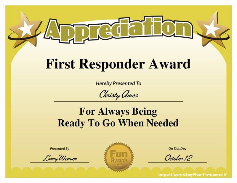 Funny Trophy Ideas for Work Best Of First Responder Award Work Pinterest