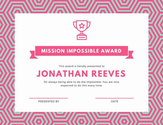 Funny Trophy Ideas for Work Elegant Customize 46 Funny Certificate Templates Online Canva