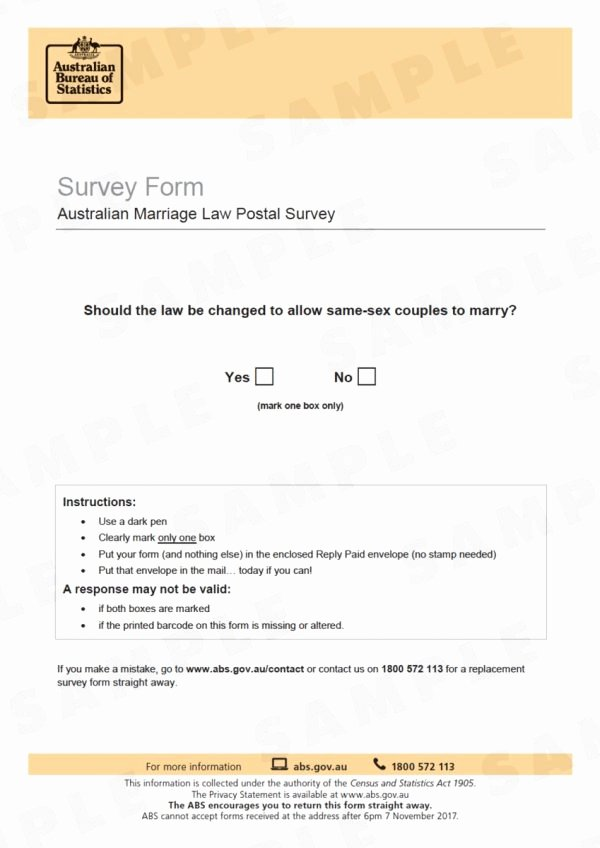 Gay Marriage Certificate Template Elegant Here S What Your Marriage Postal Survey form Will Look
