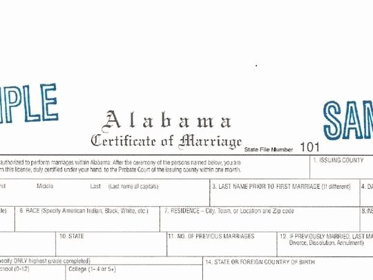 Gay Marriage Certificate Template Lovely Alabama Legislature Approves Bill Ending Marriage Licenses