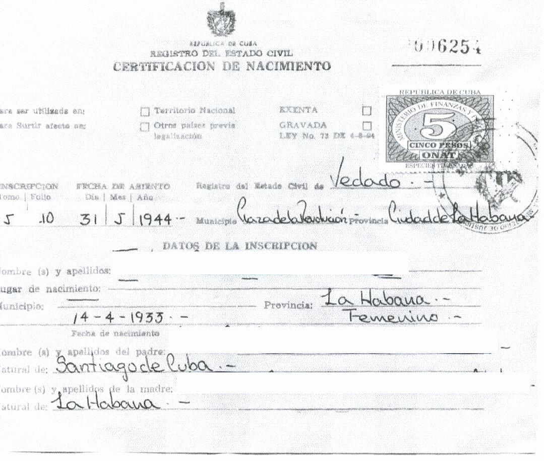 German Birth Certificate Template Lovely New Website Launched to Find Long Lost Cuban Birth