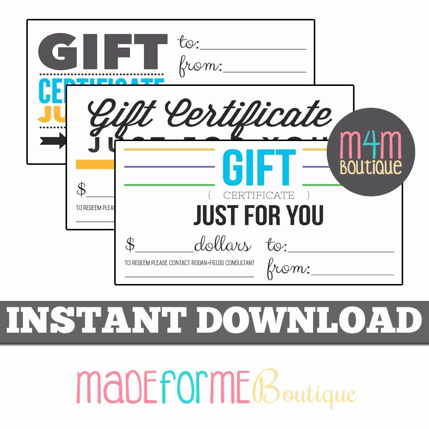 Gftlz Gift Certificate Template Download Best Of Instant Download Rf Gift Certificates Set Of 3 4 X