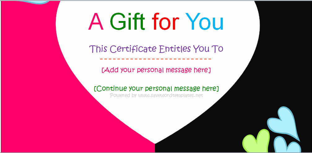 Gftlz Gift Certificate Template Download New 31 Free Gift Certificate Templates Template Lab