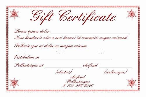 Gftlz Gift Certificate Template Elegant Gift Certificate Template with Sample Text Vectorjunky