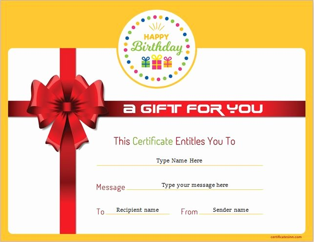 Gftlz Gift Certificate Template Inspirational Birthday Gift Certificate Sample Templates for Word
