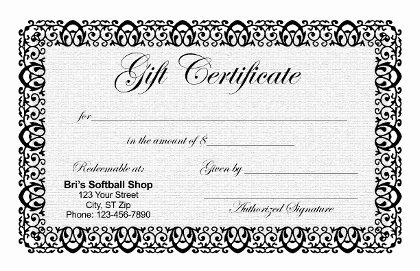 Gftlz Gift Certificate Template Lovely Gift Certificate Templates
