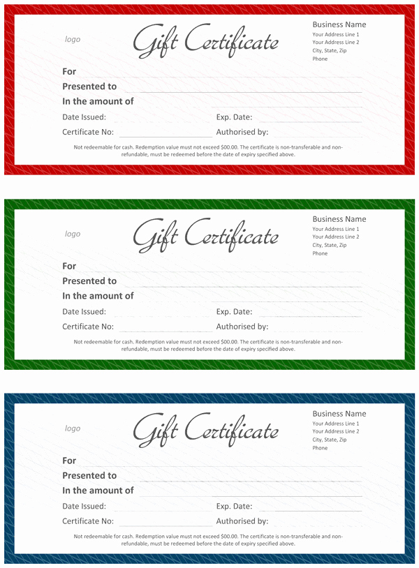 Gftlz Gift Certificate Template New Ficial Gift Certificate Template for Word