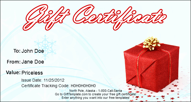 Gift Certificate Template Christmas Awesome Gift Template Blog