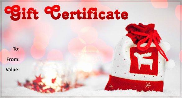 Gift Certificate Template Christmas Fresh 20 Christmas Gift Certificate Templates Word Pdf Psd