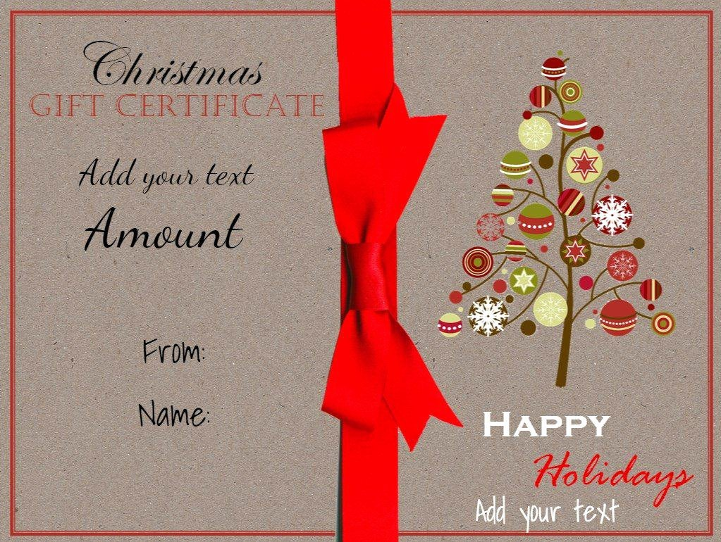 Gift Certificate Template Christmas Lovely Christmas Gift Certificate Templates