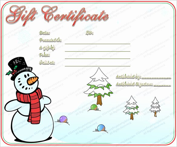 Gift Certificate Template Christmas Luxury 20 Christmas Gift Certificate Templates Word Pdf Psd