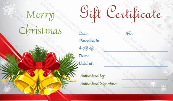 Gift Certificate Template Christmas Unique 28 Holiday Gift Certificate Templates Psd Word Ai