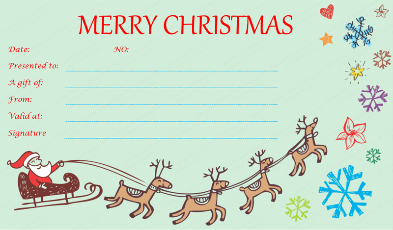 Gift Certificate Template Christmas Unique Christmas T Certificate Templates Google Search