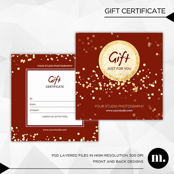 Gift Certificate Template Photography Awesome Graphy Christmas Gift Certificate Template for by